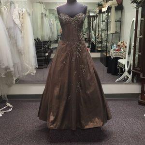 Montage taffeta ball gown and bolero. Size 16